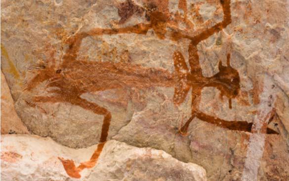 Aboriginal rock art  [Image: www.travelnt.com]