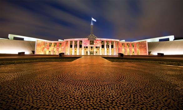 The Australian Parliament House in Canberra [Photo: www.aph.gov.au]