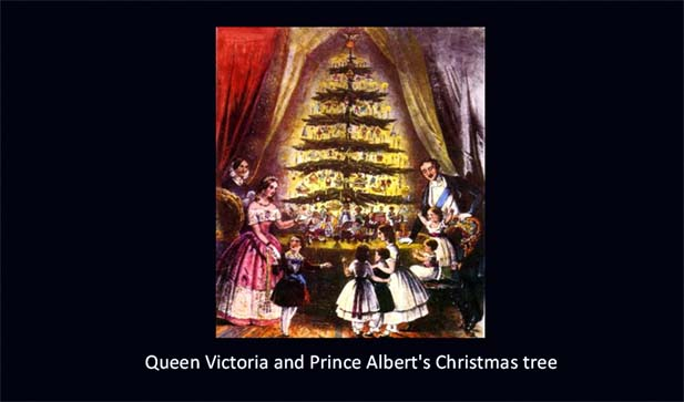 Queen Victoria and Prince Albert's Christmas tree [Source: historymyths.wordpress.com]