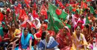 Bangladeshi women at a May Day rally