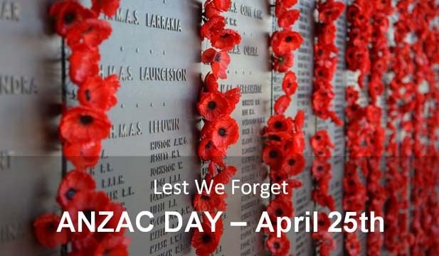 Lest We Forget - ANZAC DAY - April 25th [Image: Australian War Memorial]